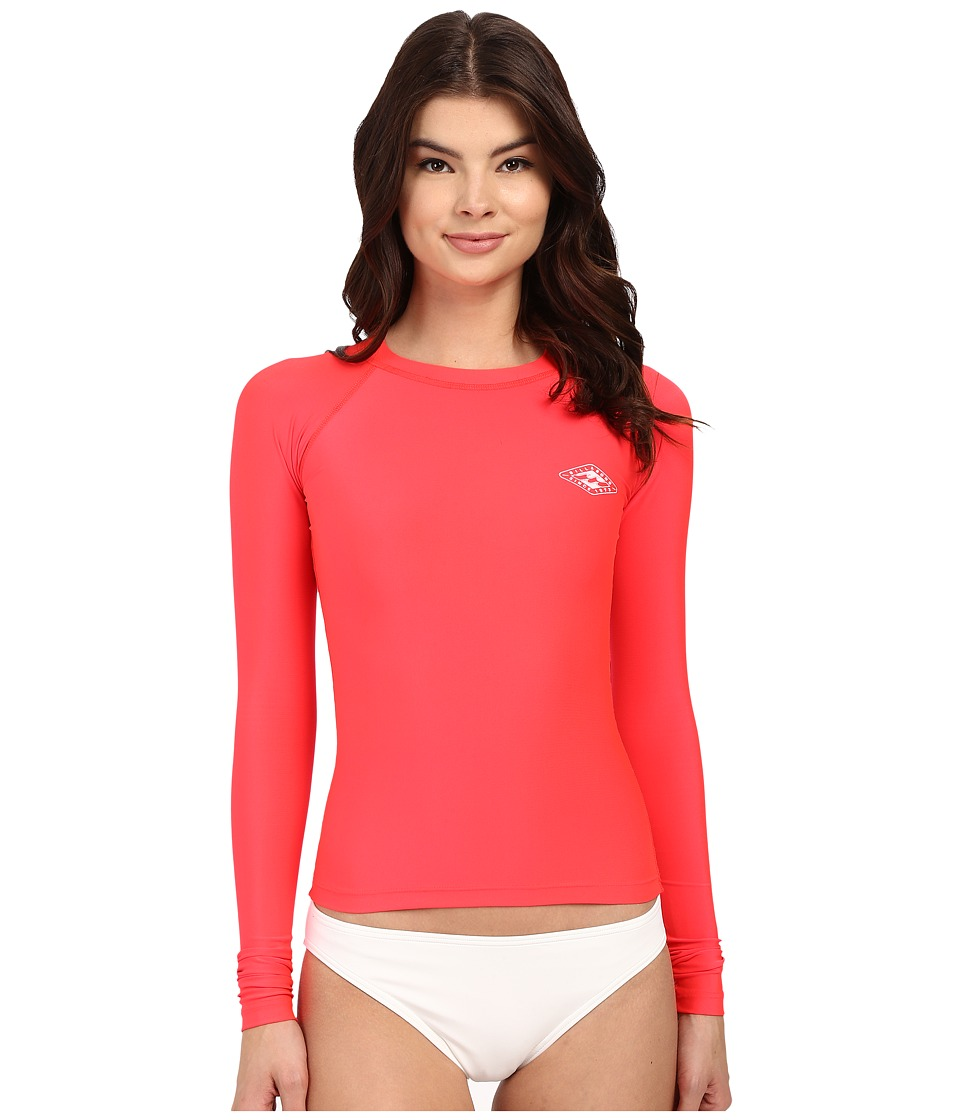 Billabong Core Regular Fit Long Sleeve Rashguard (Red Hot) Women