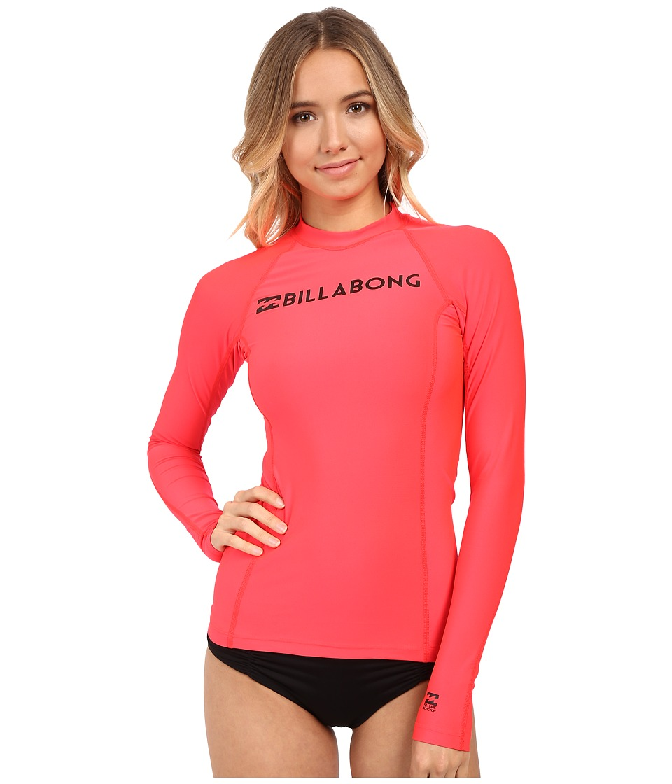 Billabong - Surf Dayz Long Sleeve Rashguard (Red Hot) Women's Swimwear