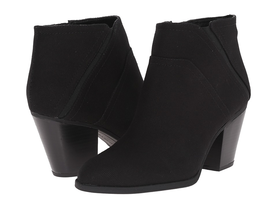 Franco Sarto - Domino (Black Canvas) Women's Zip Boots