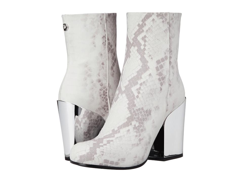 McQ - Gefrye Zip Bootie (Snake/White) Women's Boots