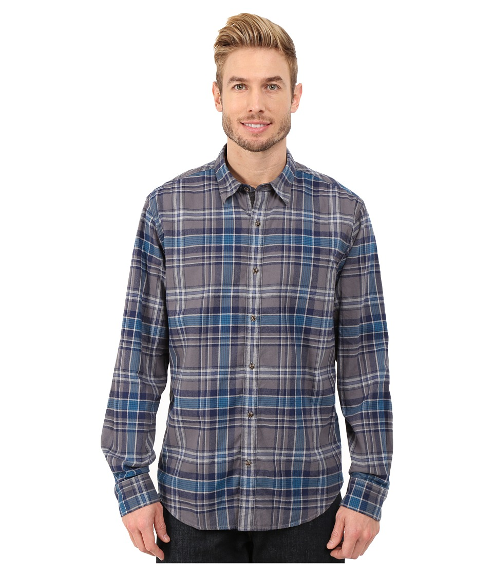 Timberland - Long Sleeve Parker River Flannel Plaid (Ink Blue) Men's Long Sleeve Button Up