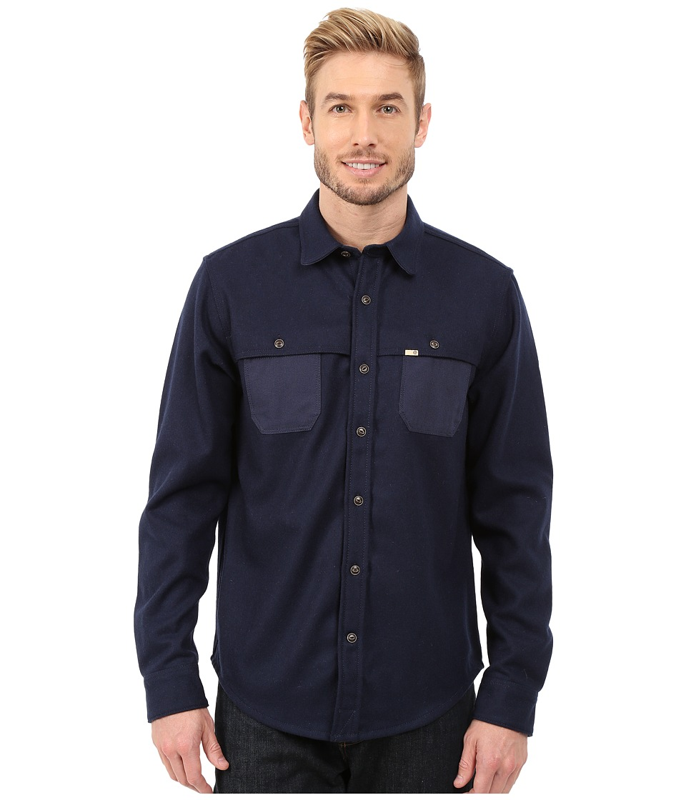 Timberland - Long Sleeve Bass River Wool (Black Iris) Men's Long Sleeve Button Up