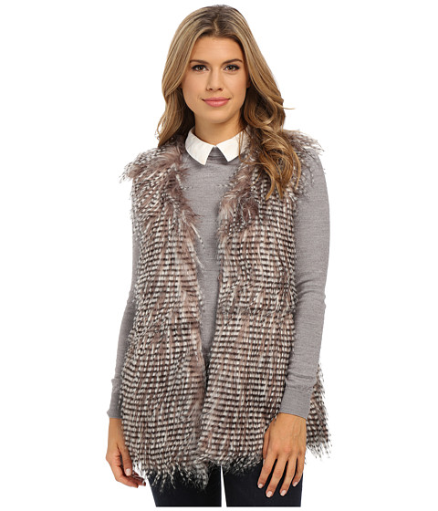 Olive & Oak - Short Sleeve Faux Fur Vest (Soft Mauve) Women