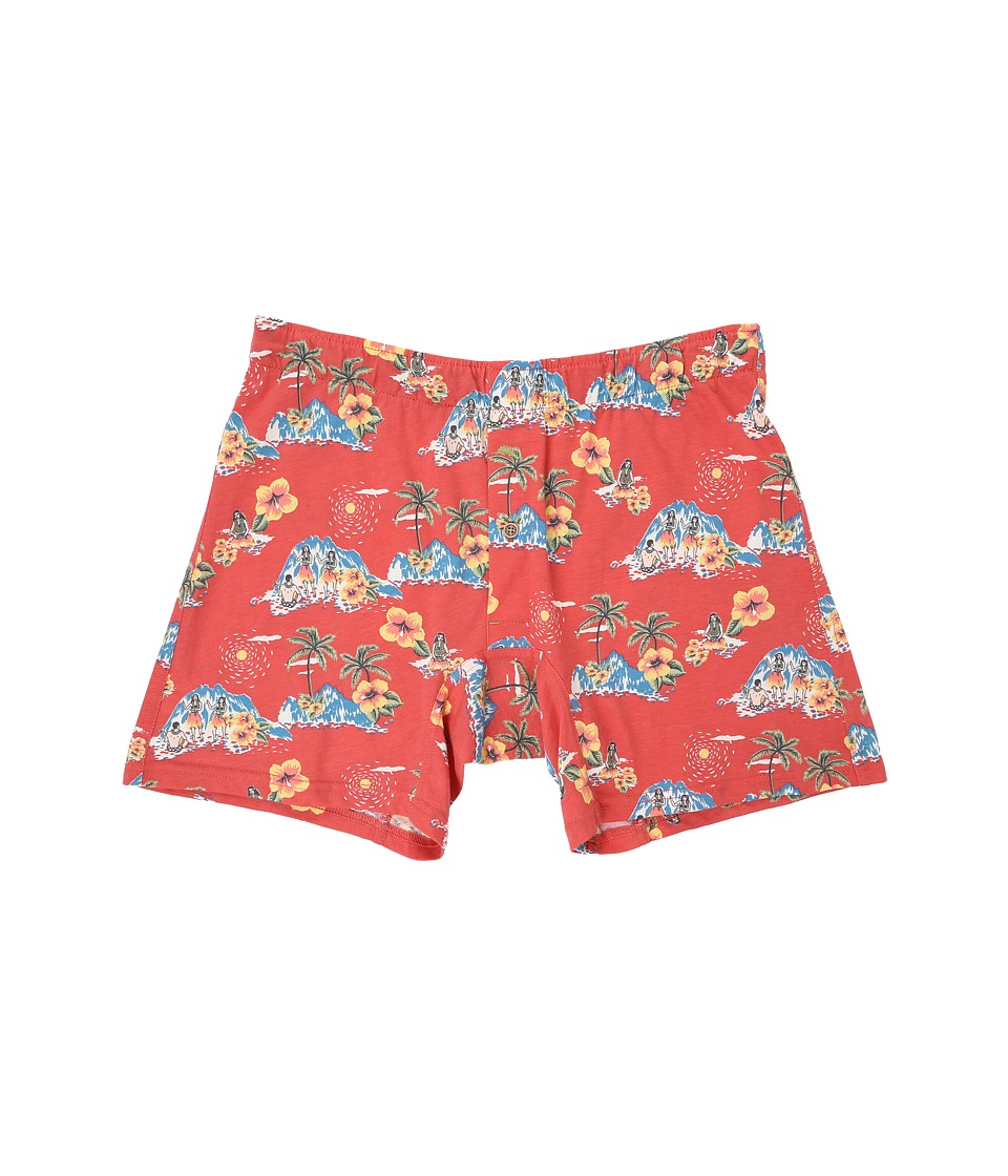 Tommy Bahama - Printed Cotton Modal Jersey Boxer Brief (Hula Girls/Coral Island) Men's Underwear