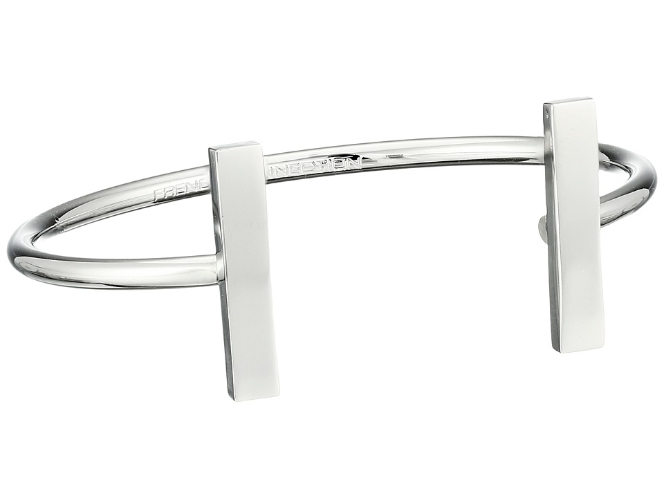 French Connection - Rectangle Bar Cuff Bracelet (Silver) Bracelet