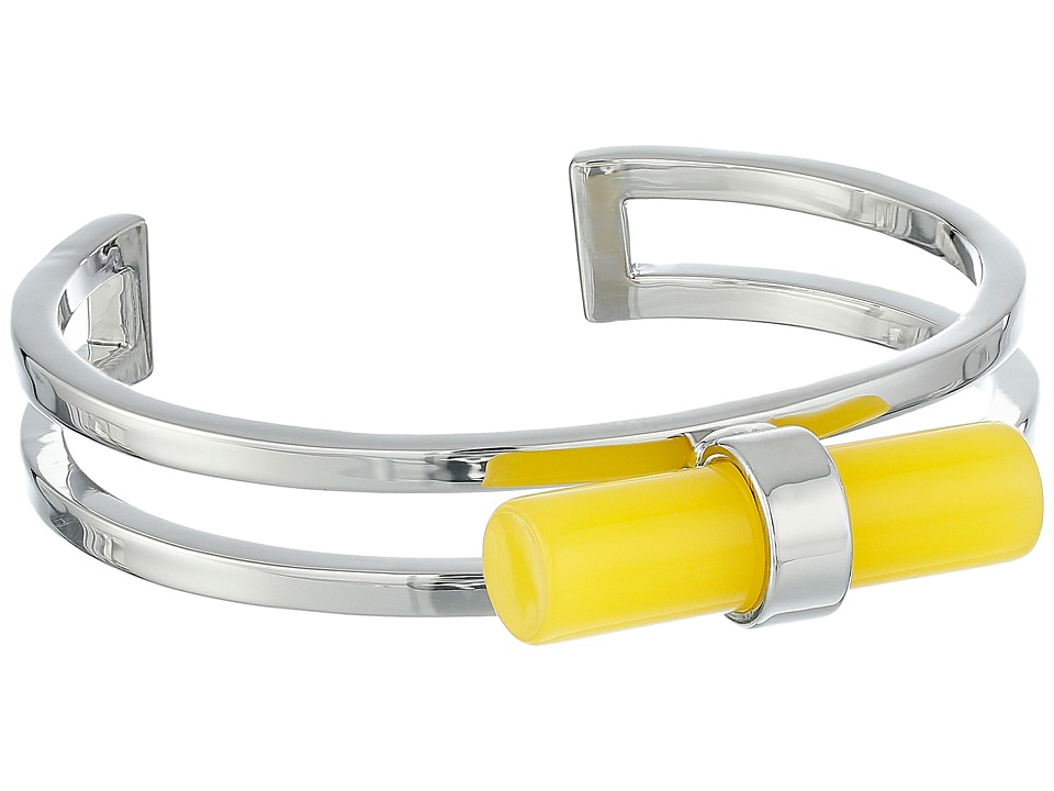 French Connection - Tube Cuff Bracelet (Silver/Yellow) Bracelet