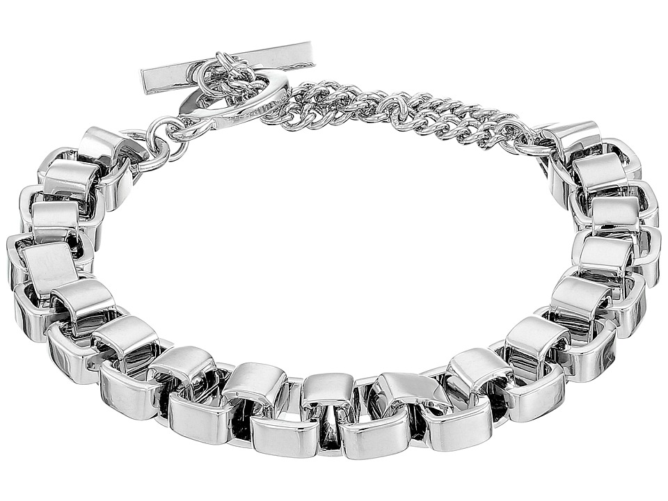 French Connection - Medium Box Chain Bracelet (Silver) Bracelet