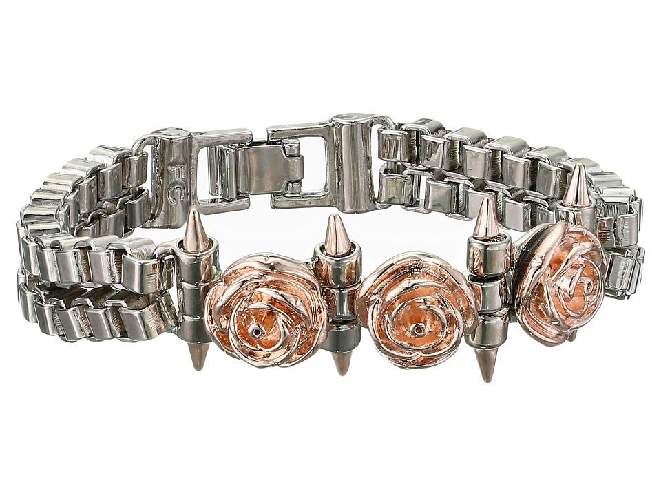 French Connection - Rose Spike Bracelet (Silver/Rosegold) Bracelet