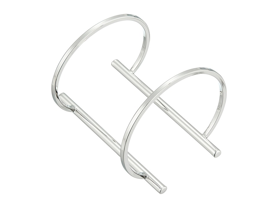 French Connection - Open Tube Cuff Bracelet (Silver) Bracelet
