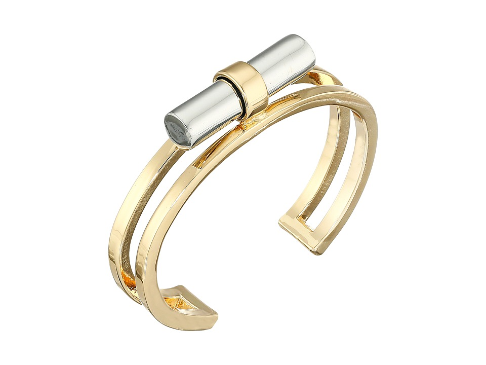 French Connection - Tube Cuff Bracelet (Gold/Silver) Bracelet
