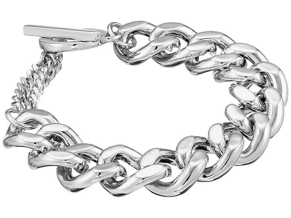 French Connection - Medium Curb Chain Bracelet (Silver) Bracelet