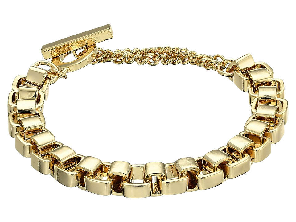 French Connection - Medium Box Chain Bracelet (Gold) Bracelet