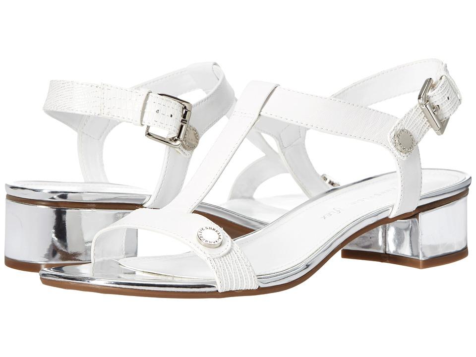 Anne Klein - Ebber (White/Silver Leather) Women