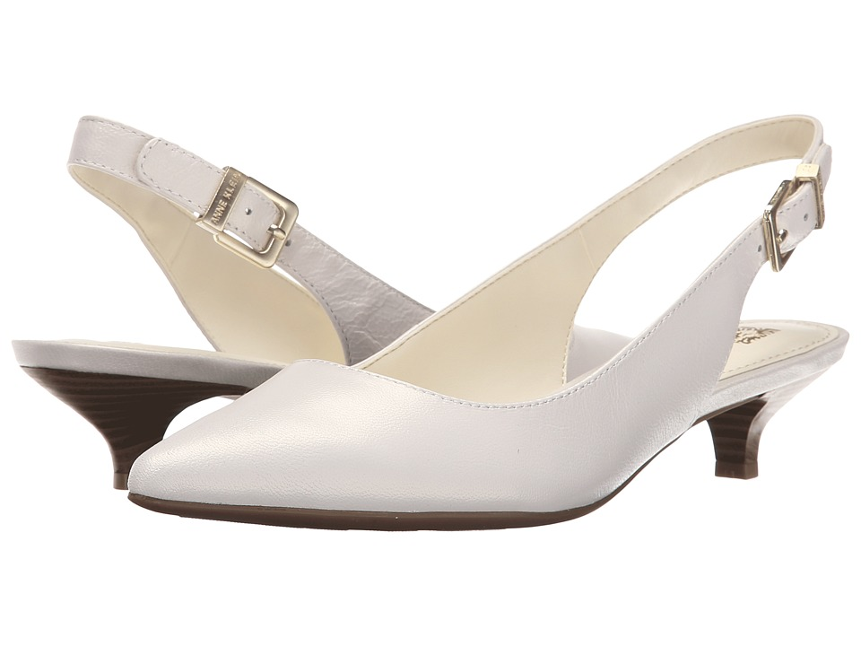 Anne Klein - Expert (White Leather) Women's 1-2 inch heel Shoes