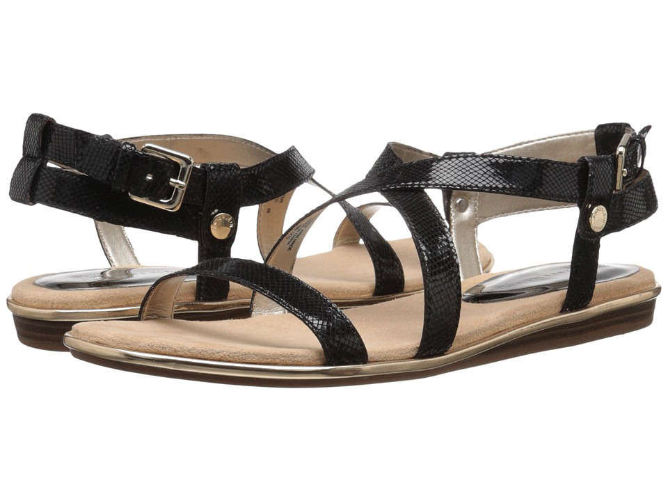 Anne Klein Garlyn (Black Reptile) Women
