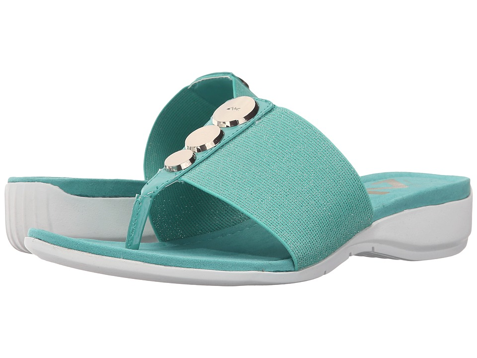 Anne Klein - Katya (Turquoise Fabric) Women's Clog Shoes