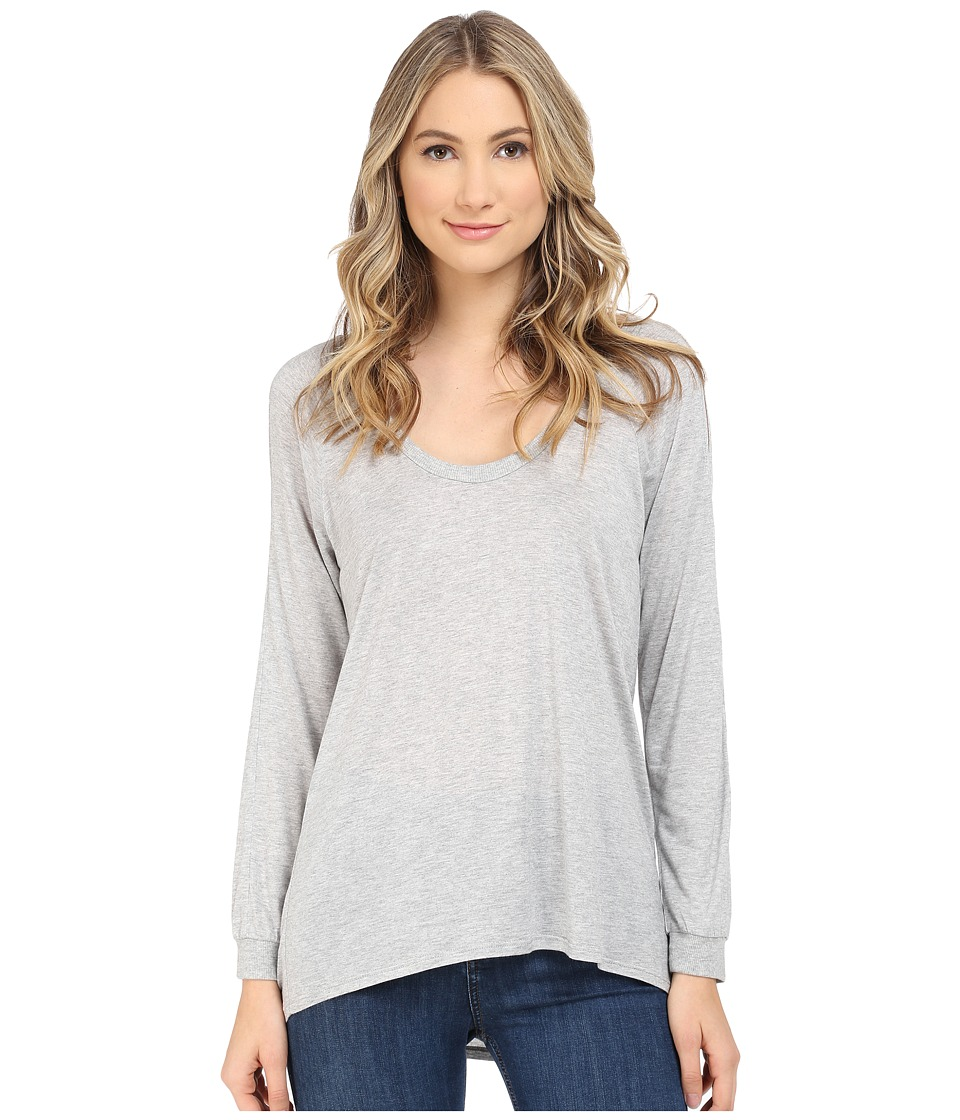 Lanston - Cold Shoulder Pullover (Heather) Women's Clothing