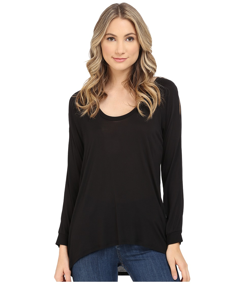 Lanston - Cold Shoulder Pullover (Black) Women's Clothing