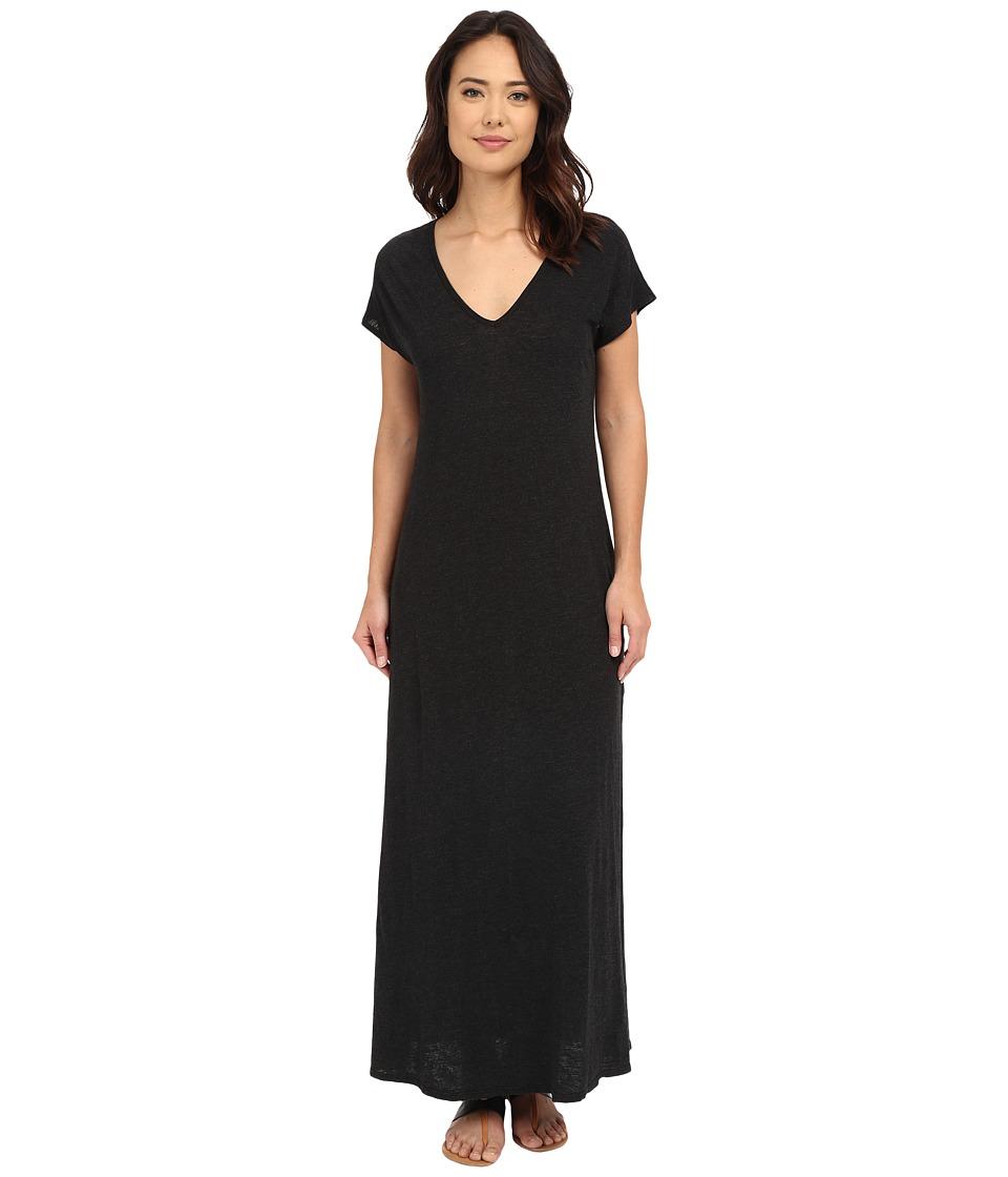 Lanston - V-Neck Maxi Dress (Black) Women's Dress