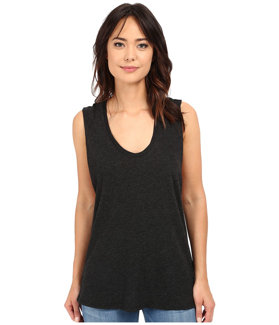 Lanston - Twist Back Muscle Tee (Black) Women's Sleeveless