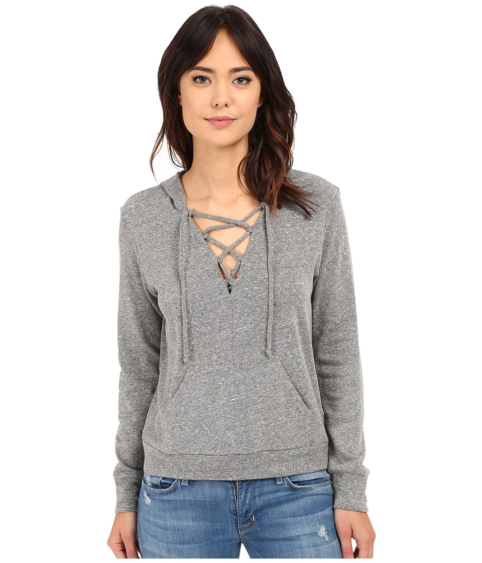 Lanston - Lace-Up Hoodie (Heather) Women's Sweatshirt