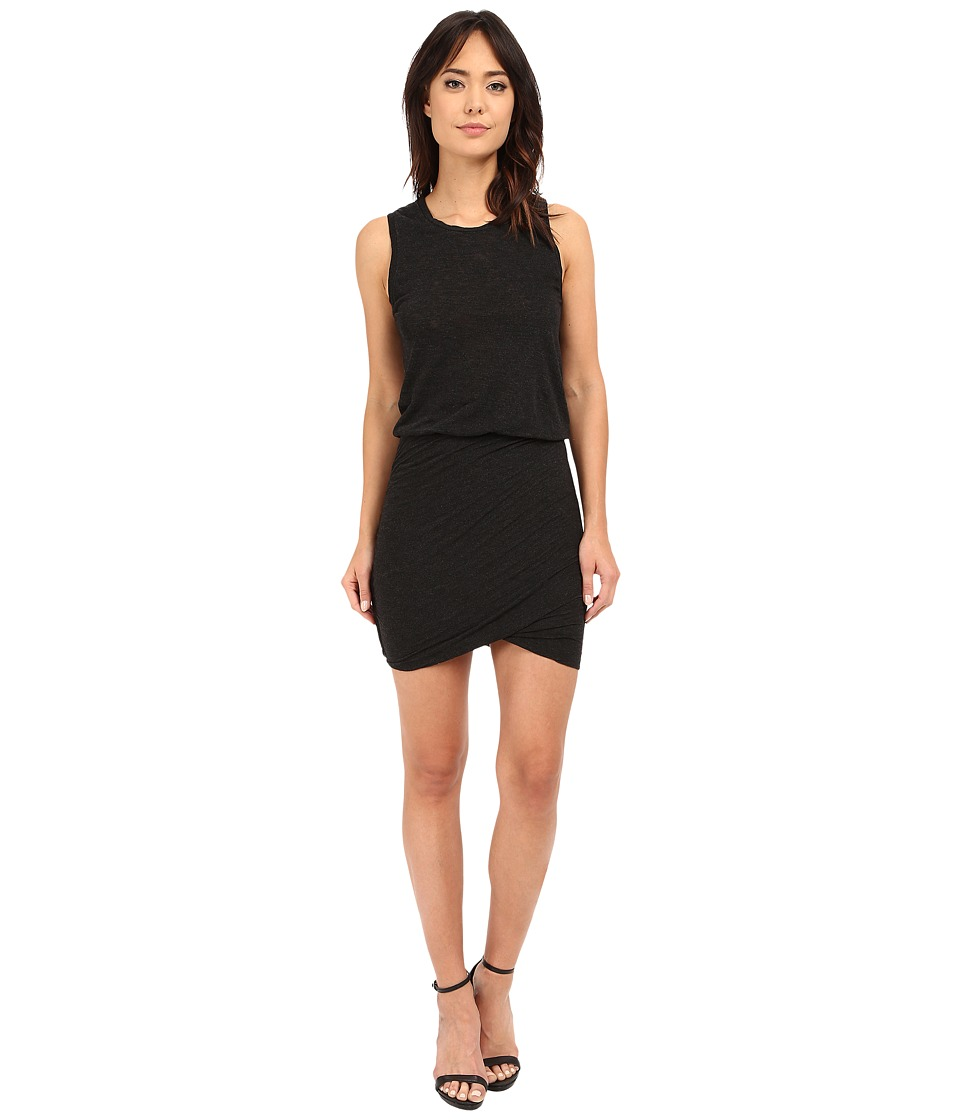 Lanston - Ruched Mini Dress (Black) Women's Dress