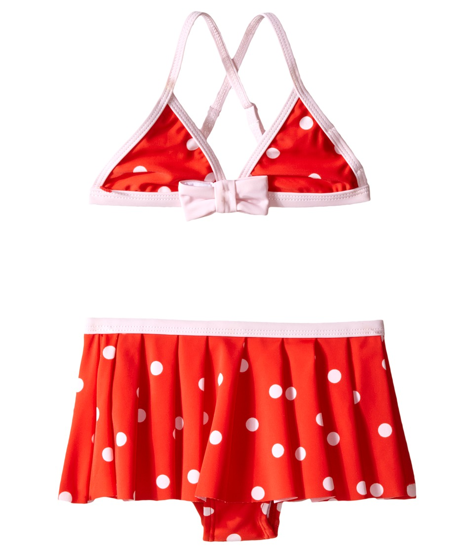 Kate Spade New York Kids - Polka Dot Two-Piece (Toddler/Little Kids) (Fairytale Red/Pastry Pink) Girl's Swimwear Sets