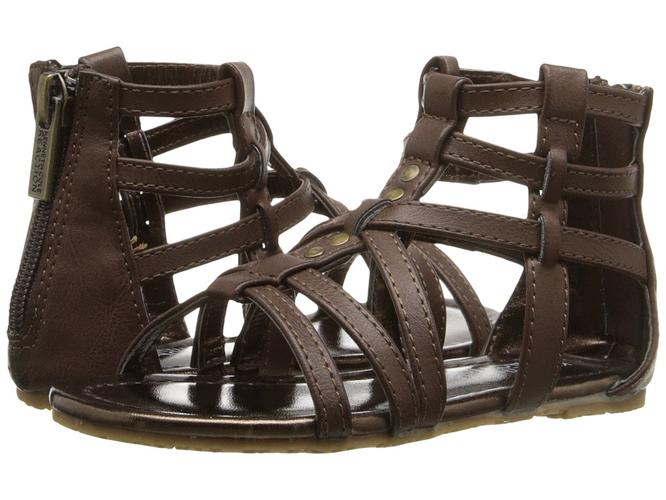 Kenneth Cole Reaction Kids - Daylo Gladiator 2 (Toddler/Little Kid) (Brown) Girls Shoes
