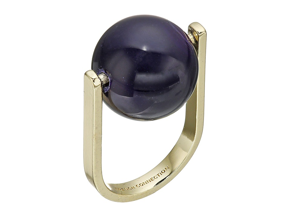 French Connection - Orbital Bead Ring (Gold/Purple) Ring