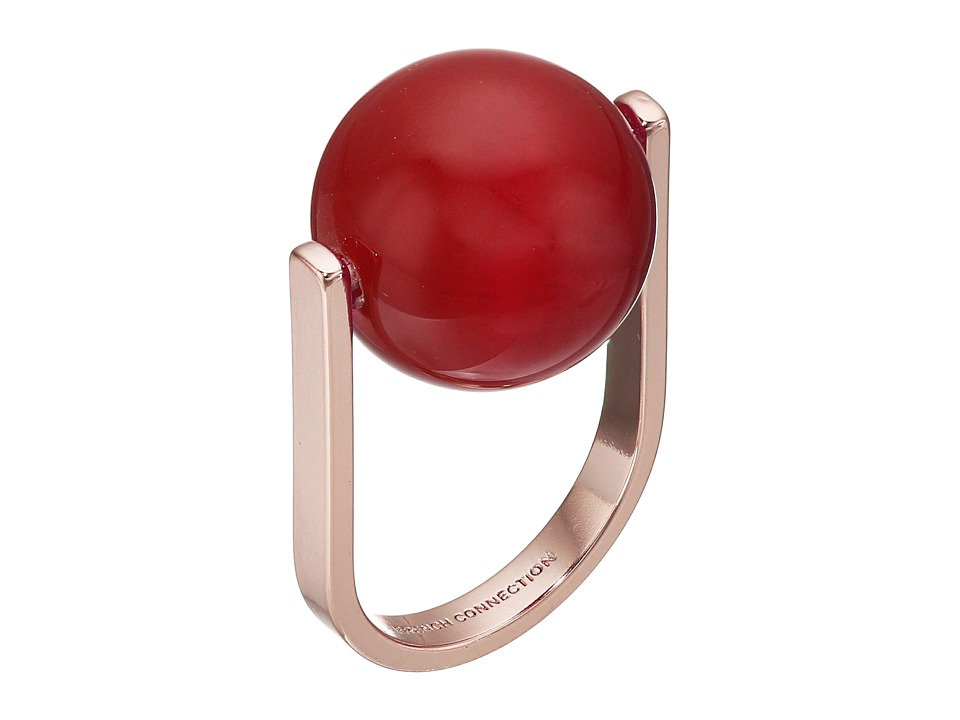 French Connection - Orbital Bead Ring (Rose Gold/Orange) Ring