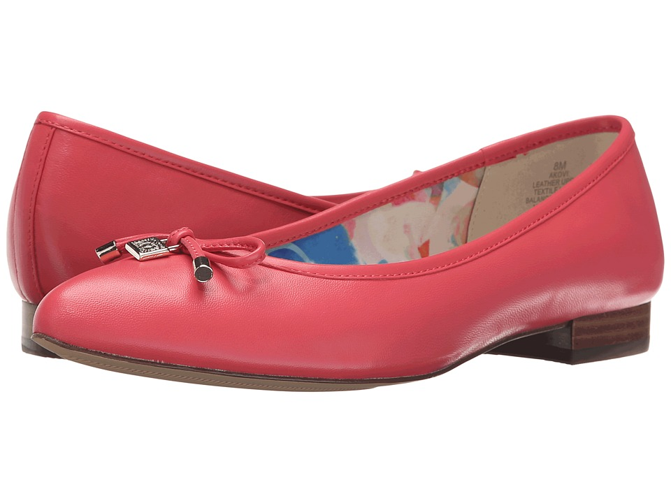 Anne Klein - Ovi (Sorbet Pink Leather) Women's Flat Shoes