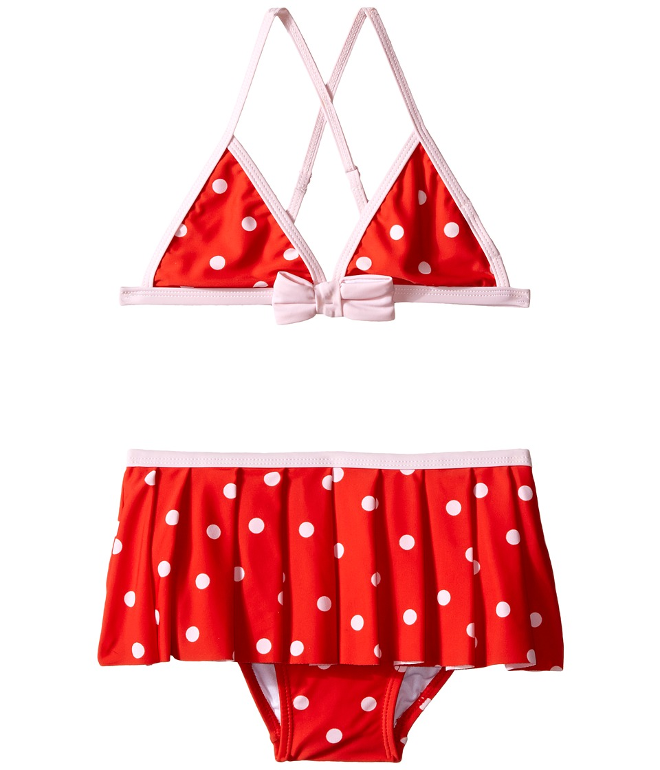 Kate Spade New York Kids - Polka Dot Two-Piece (Big Kids) (Fairytale Red/Pastry Pink) Girl's Swimwear Sets