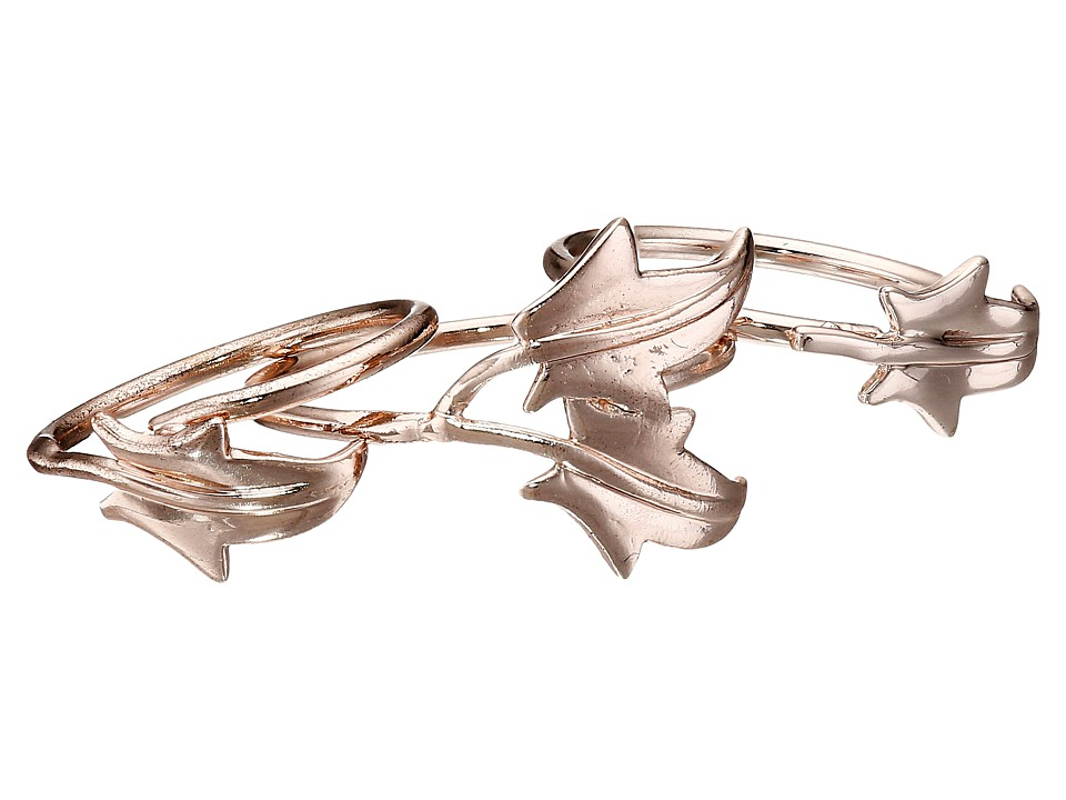French Connection - Ivy Leaf Midi Ring Set (Rose Gold) Ring