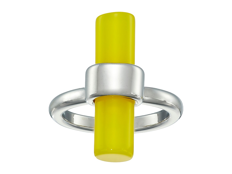 French Connection - Tube Ring (Silver/Yellow) Ring