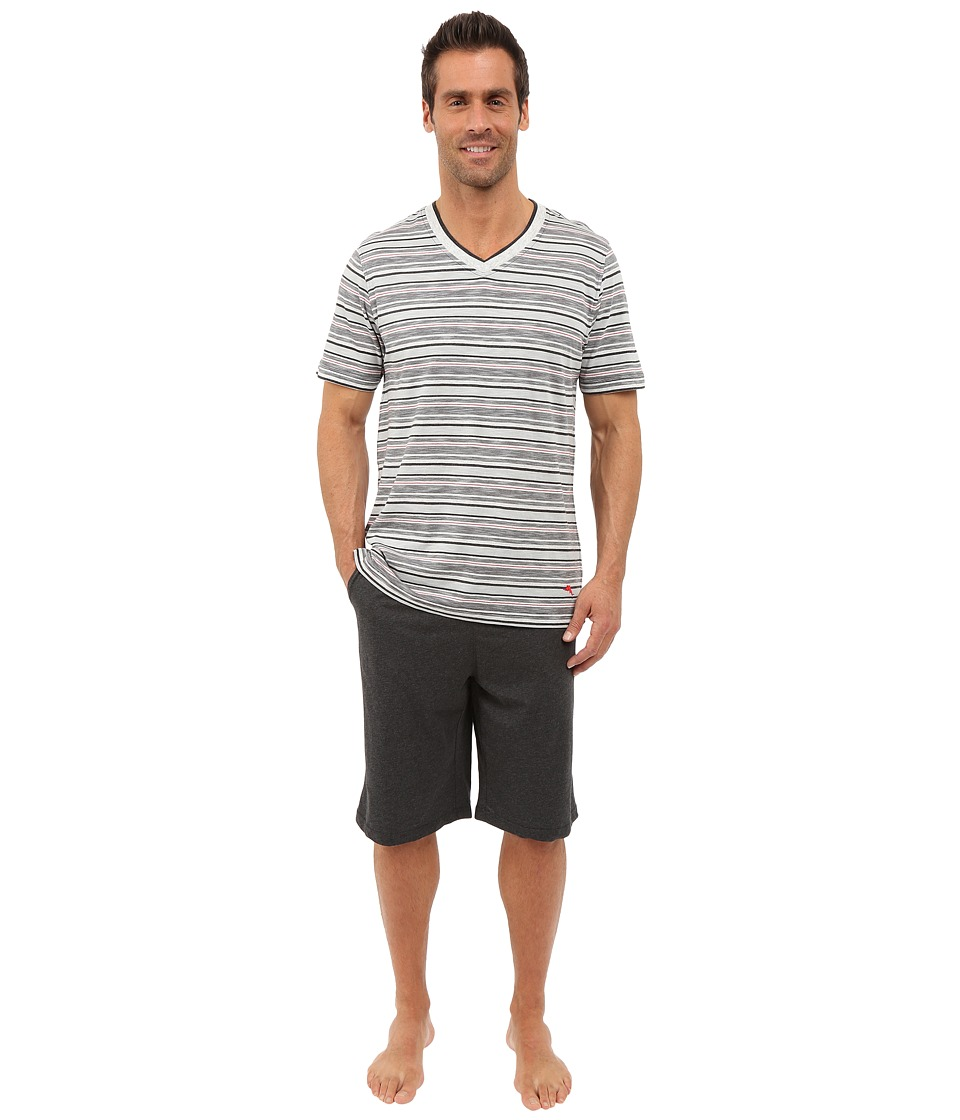 Tommy Bahama - Jam Set (Black Heather Stripe) Men's Pajama Sets