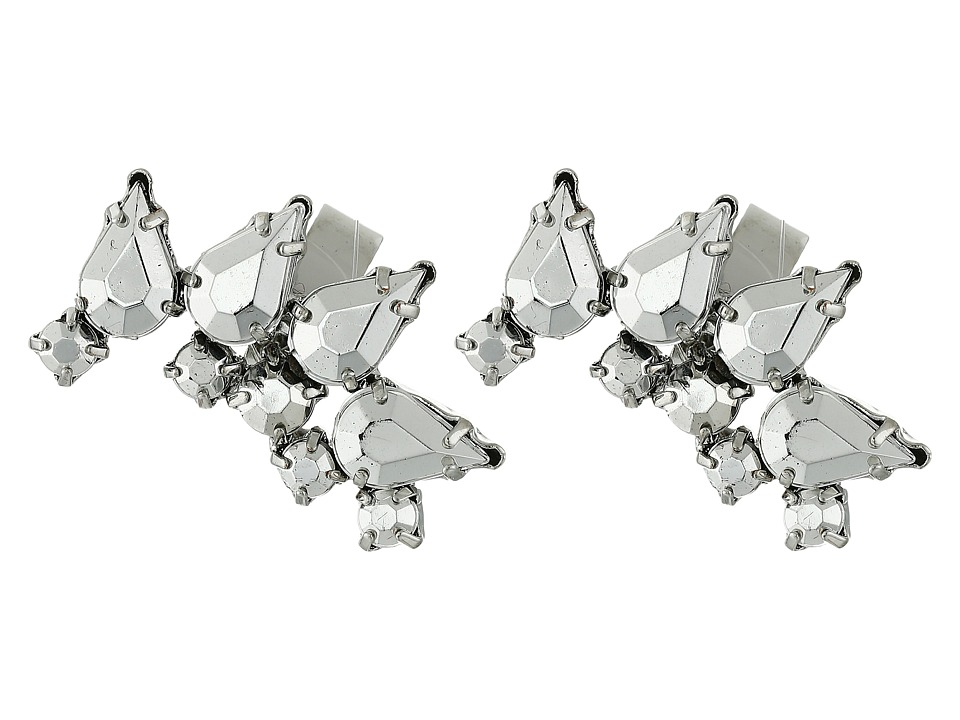 French Connection - Jeweled Ear Cuff Earrings Set (Silver) Earring