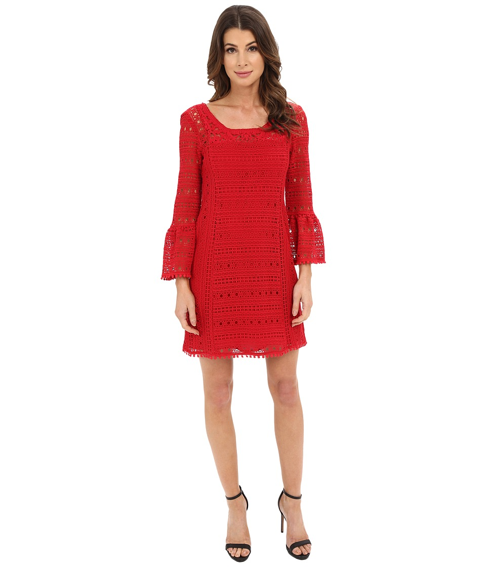 Nanette Lepore - Free Spirit Frock (Red) Women's Long Sleeve Pullover