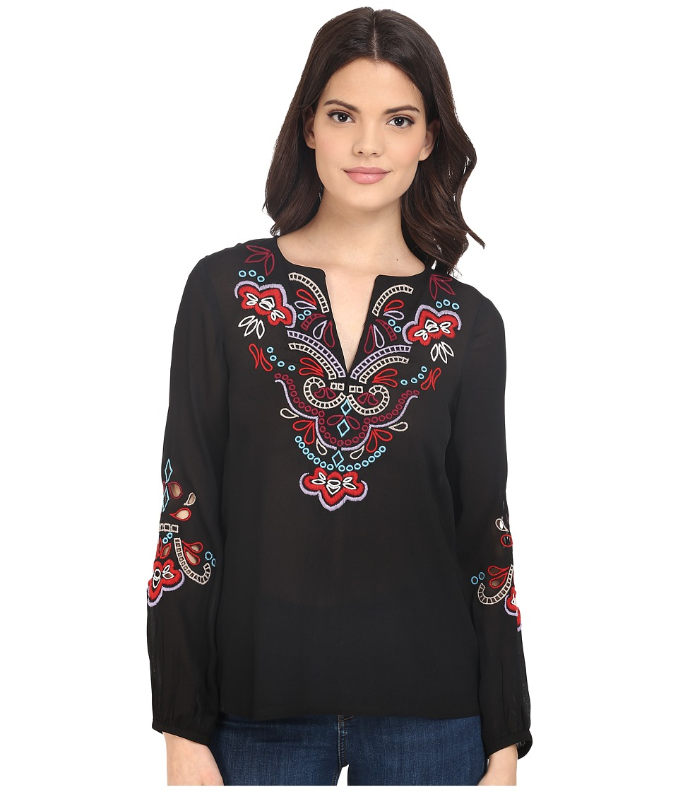 Nanette Lepore - Romance Blouse (Black/Multi) Women's Blouse