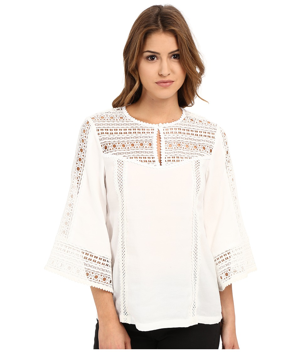 Nanette Lepore - Flutter Sleeve Top (White) Women's Blouse