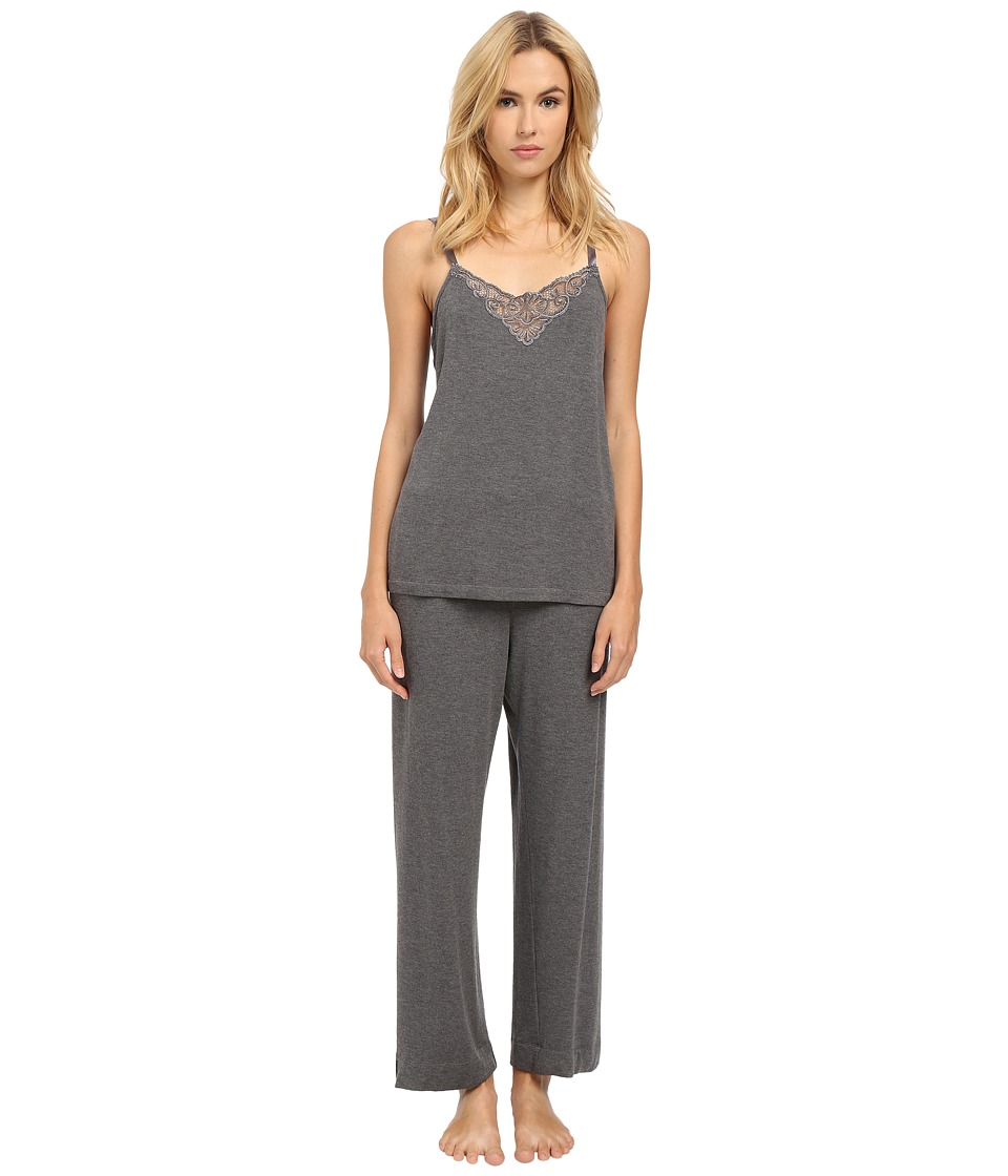 Oscar de la Renta - Cozy Brushed Jersey Pajama (Granite) Women's Pajama Sets