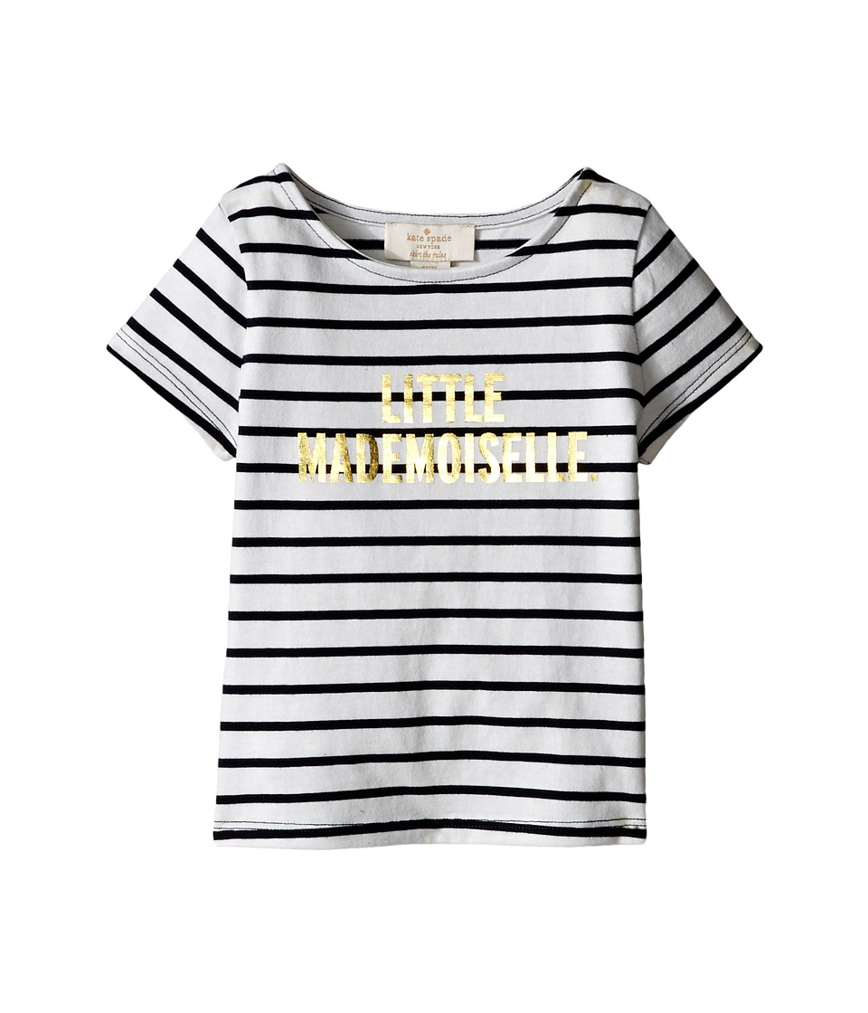 Kate Spade New York Kids - Little Mademoiselle Tee (Toddler/Little Kids) (Rich Navy/Cream) Girl's T Shirt