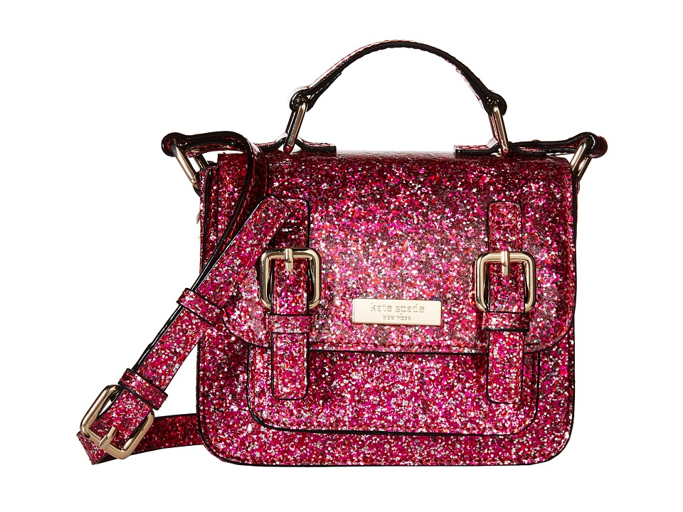 Kate Spade New York Kids - Scout Crossbody (Red/Pink Glitter) Cross Body Handbags