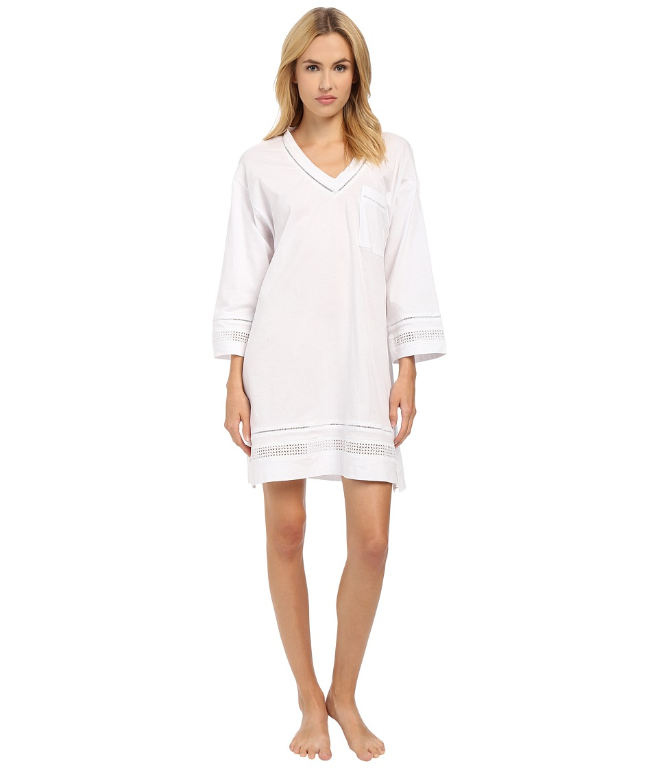 Oscar de la Renta - Spa Pima Cotton Knit Sleepshirt (Signature White) Women's Pajama