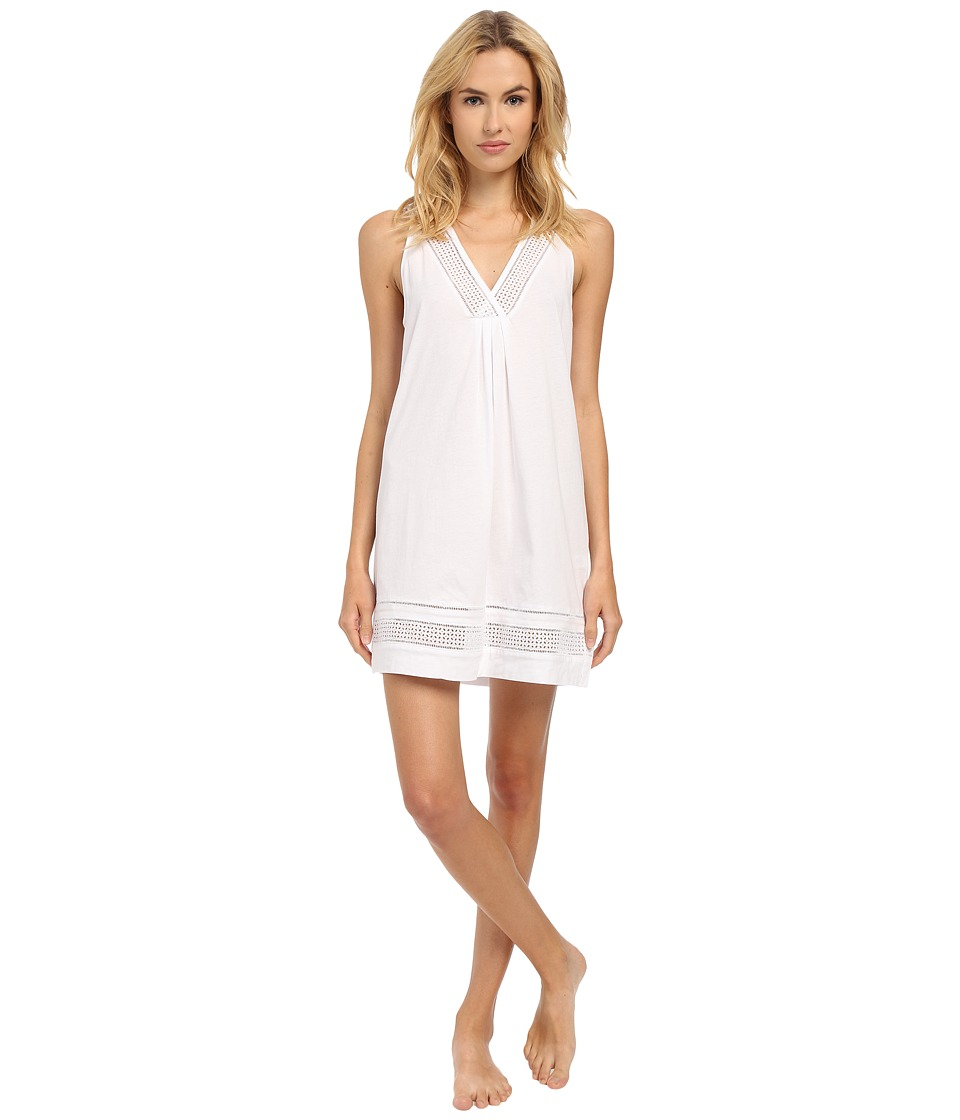 Oscar de la Renta - Spa Pima Cotton Knit Chemise (Signature White) Women's Pajama