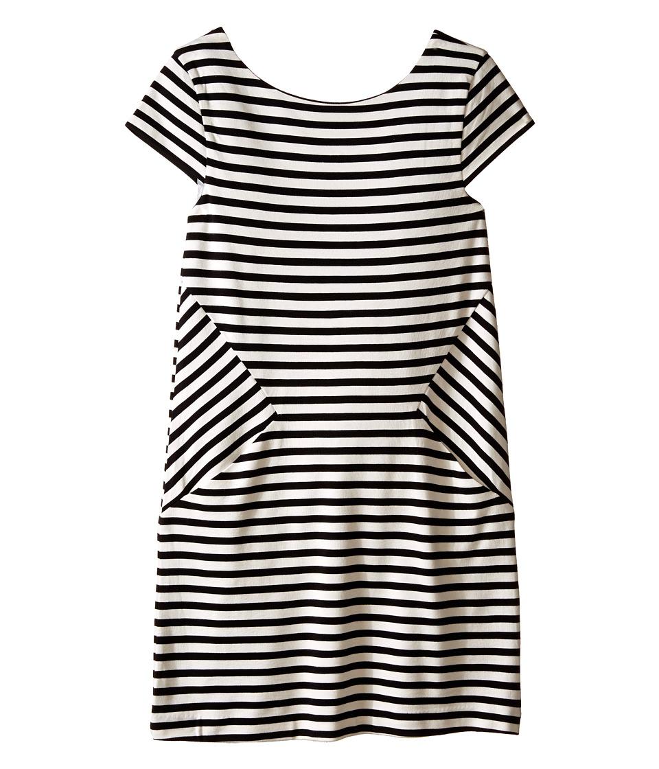 Kate Spade New York Kids - Stripe Bow Dress (Big Kids) (Black/Cream Stripe) Girl's Dress