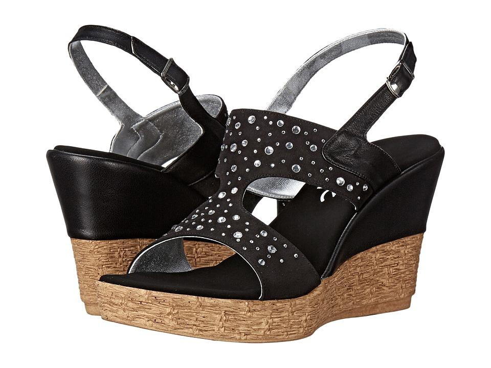 Onex - Napa (Black/Clear Stones) Women's Sandals