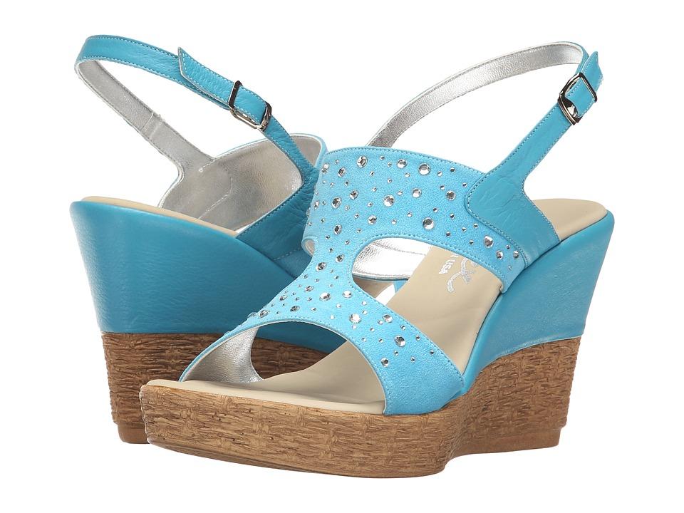 Onex - Napa (Turquoise/Clear Stones) Women's Sandals