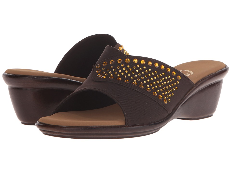 Onex - Shine (Chocolate/Topaz Stones) Women's Sandals