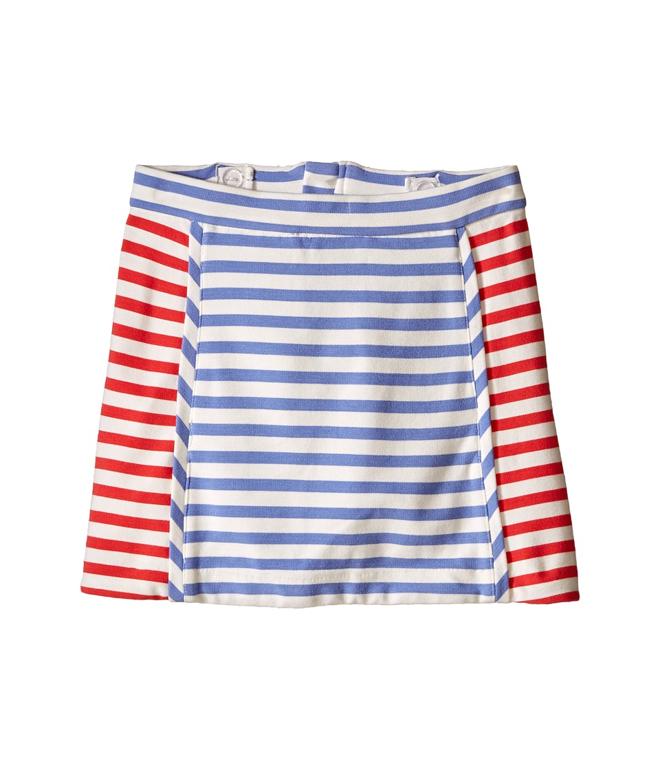 Kate Spade New York Kids - Stripe A-Line Skirt (Toddler/Little Kids) (Periwinkle/Geranium/Cream Stripe) Girl's Skirt
