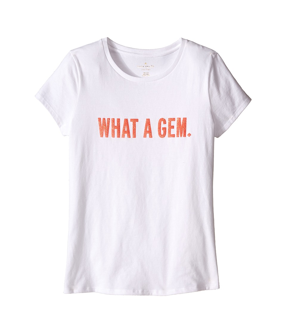 Kate Spade New York Kids - What A Gem Tee (Big Kids) (Fresh White) Girl's T Shirt